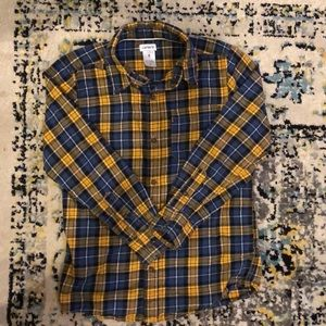 Carter's blue and yellow button down
